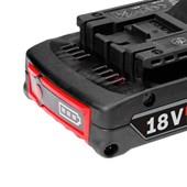 Bateria 18V 2,0Ah com indicador de carga Lítio GBA Li-Ion Bosch