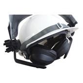 Capacete Branco Acoplado Com Protetor Facial E Abafador Ledan