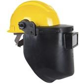 Capacete de Proteção + Máscara de Solda Com Visor Articulado 958C Ledan