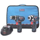 Combo Furadeira/Parafusadeira GSR 12 2 LI + Chave De Impacto GDR12-LI  Bosch