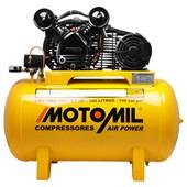 Compressor de Ar 10 Pés 2HP 100L Monofásico 140LBF Motomil