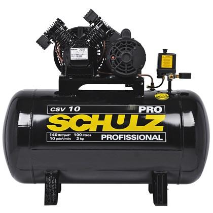 Compressor de Ar 100 Litros 2HP Pro Monofásico Csv 10/100 Schulz
