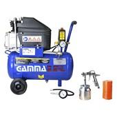 Compressor de Ar 2 HP 24 Litros com Kit 220v Gamma