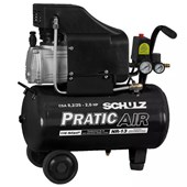 Compressor de Ar  8,2 pés 25 litros S/Kit Pratic Air Schulz