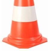 Cone de Sinalização Laranja/Branco 75cm Plastcor