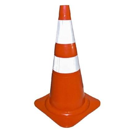 Cone de Sinalização Laranja/Branco PVC 75cm Plastcor