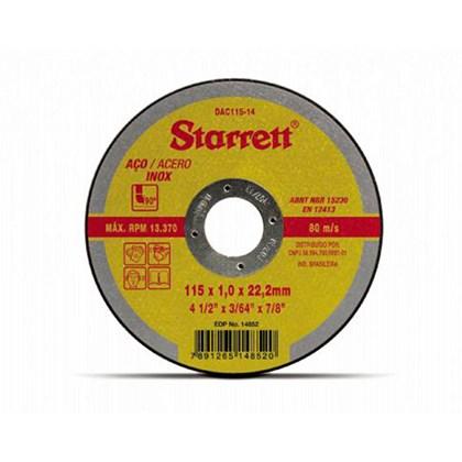 Disco de Corte 4.1/2 115mm DAC115-14 Starret