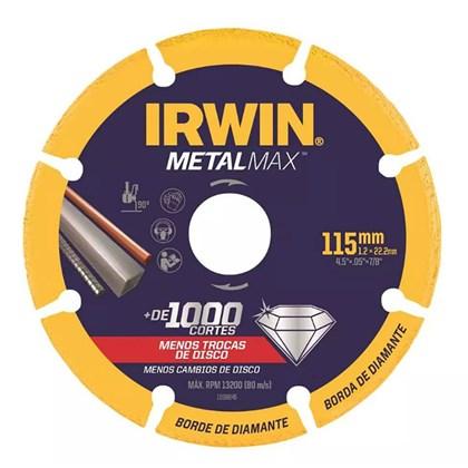 """Disco de Corte Diamantado 4.1/2"""" X 7/8"""" Para Metais Metalmax 1998845 Irwin"""
