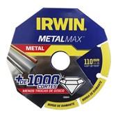 """Disco de Corte Diamantado 4.3/8"""" X 20MM Para Metais Metalmax 1998844 Irwin"""