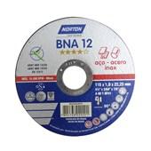 Disco de Corte Para Inox 4.1/2x1,0x7/8 BNA12 Norton