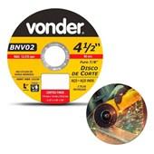 Disco de Corte para Metal e Inox 115 x 1 x 22,23mm Vonder