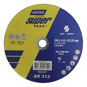 Disco de Corte Super Aço 230x3x22,23 mm AR312 Norton