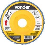 Disco de Desbaste Acabamento FLAP DISC 4 1/2 G 601224412060  Vonder