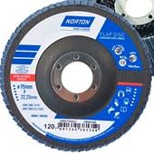 Disco de Lixa 115mm Flap Disc Grão 120 Inox Capa Única Norton