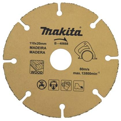 Disco Diamantado de Tungstênio 110MM Para Madeira Makita