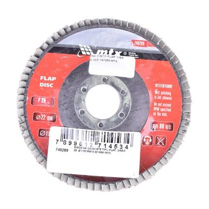 Disco Lixa Flap 115mm x 22mm GR25 MTX