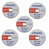 Discos  Para Corte de Metal Extrafino  1.1/2  5 Disco Ez Lock EZ409 Dremel