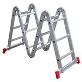 Escada Articulada 4 x 3 com 12 Degraus de Alumínio ESC0292 Botafogo