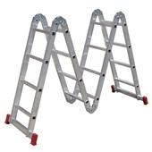 Escada Articulada 4x4 Com 16 Degraus de Alumínio ESC0293 Botafogo