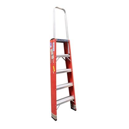Escada de Fibra de Vidro Pintor Alça 5 Degraus FP205 Alulev