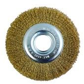 Escova Circular de Aço Latonada 6x1.2 Pol. com Buchas Disflex