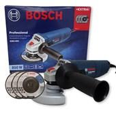 "Esmerilhadeira Angular 4 1/2"" 850W 3 Discos De Desbaste GWS 850 Bosch"