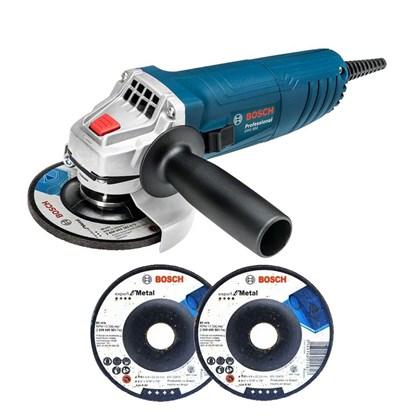 Esmerilhadeira Angular 4 1/2 850W 3 Discos De Desbaste GWS 850 Bosch