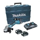 """Esmerilhadeira Angular 7"""" Com Bateria e Carregador DGA700PT2 220V Makita"""