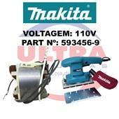Estator Para Lixadeira Orbital 110V BO3700 Ref. 593456-9 Makita