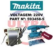 Estator Para Lixadeira Orbital 220V BO3700 Ref. 593458-5 Makita
