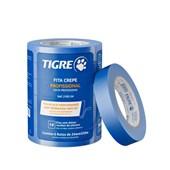 Fita Crepe Azul Barreita UV 24mm x 50m Tigre