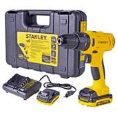 "Furadeira Parafusadeira de Impacto 3/8"" Bateria 12v SCH12S2K-BR  Stanley"