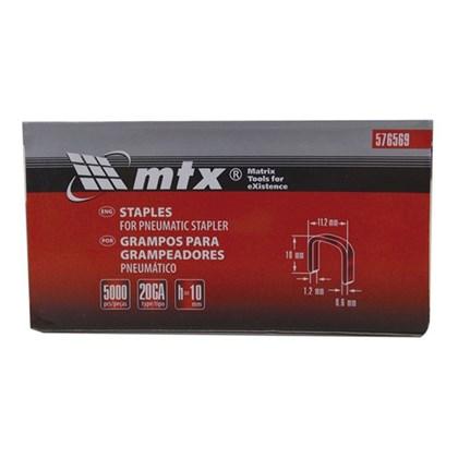 Grampo Para Grampeador Pneumático 10MMX11,2X0,6MM Com 5.000 Unidades 576569 MTX