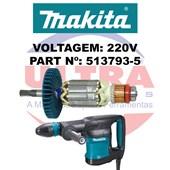 Induzido Rotor Para Martelo Rompedor 220V HM870C Ref. 513793-5 Makita