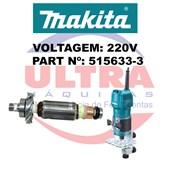 Induzido Rotor Para Tupia 220V 3709 e 3710 Ref. 515633-3 Makita