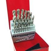 Jogo de Brocas de Aço Rápido 25 Peças 1 a 13mm Htom