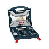 Jogo de Brocas e Acessórios 103 peças e Maleta X-Line Titânio 2607017395 Bosch