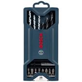 Jogo de Brocas e bits 15 peças X-LINE 2607017408 Bosch