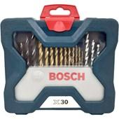 Jogo De Brocas E Pontas Bits Com 30 Peças X-line Titânio Bosch