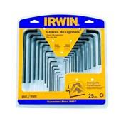 """Jogo de Chave Allen 0.050-1,5 A 10MM E 0.050 A 3/8"""" Com 25 Peças IW10759 Irwin"""