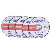 Jogo de Discos para Corte de Metal 38mm 1.1/2  5 Peças  Ez Lock EZ456 Dremel