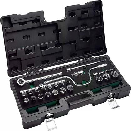 Jogo Soquetes Estriado 3/8 6 A 22mm 34 Pçs 203403MPBJ Belzer