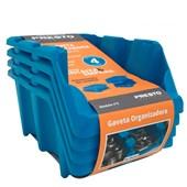 Kit de 4 Gavetas Empilháveis Nº 5 Azul Presto
