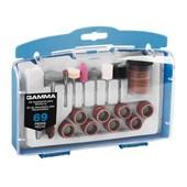 Kit de Acessórios Para Micro Retífica Com 69 Peças G19504AC Gamma