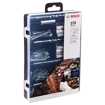 Kit Fixação Parafusos Buchas Bits e Brocas 173 peças 2607017506 Bosch