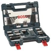 Kit Jogo de Bits e Brocas V-Line com 91 Peças Bosch