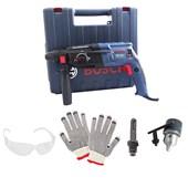 Kit Martelete Perfurador Rompedor 220v GBH 2-24D Bosch + Mandril + Haste + Brindes