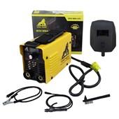 Kit Mini Inversora De Solda Digital 220v Mini Mma 205 USK + Maleta + Luva