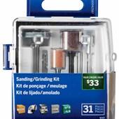 Kit para Lixar e Afiar para Micro Retífica com 31 Peças Dremel