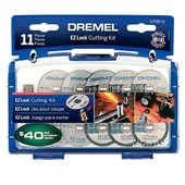 Kit Para Mini Retífica 11 Peças para Cortar  EZ688   Dremel